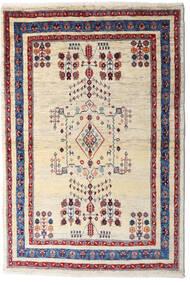 Loribaft ペルシャ 絨毯 98X145 モダン 手織り ベージュ/濃い紫 (ウール, ペルシャ/イラン)