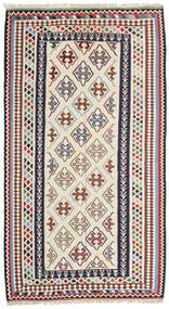 キリム センネ 絨毯 148X268 オリエンタル 手織り ベージュ/濃いグレー (ウール, ペルシャ/イラン)