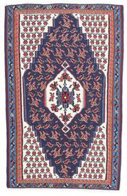 キリム センネ 絨毯 110X165 オリエンタル 手織り 濃いグレー/濃い紫 (ウール, ペルシャ/イラン)