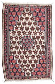 キリム センネ 絨毯 150X220 オリエンタル 手織り 濃い紫/薄い灰色 (ウール, ペルシャ/イラン)