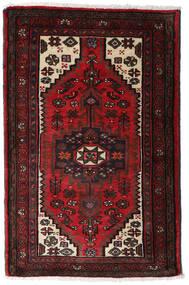 ハマダン 絨毯 80X125 オリエンタル 手織り 濃い茶色/深紅色の (ウール, ペルシャ/イラン)
