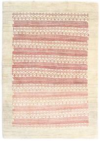 Loribaft ペルシャ 絨毯 103X148 モダン 手織り ベージュ/ライトピンク (ウール, ペルシャ/イラン)