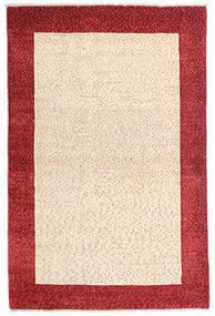 Loribaft ペルシャ 絨毯 105X158 モダン 手織り ベージュ/深紅色の (ウール, ペルシャ/イラン)
