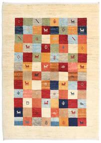 Loribaft ペルシャ 絨毯 109X152 モダン 手織り ベージュ/ホワイト/クリーム色 (ウール, ペルシャ/イラン)