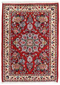 ハマダン シャフバフ 絨毯 67X92 オリエンタル 手織り 深紅色の/ベージュ (ウール, ペルシャ/イラン)
