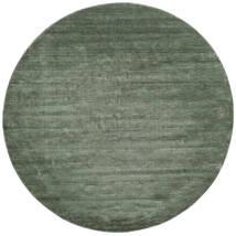ハンドルーム - フォレストグリーン 絨毯 Ø 250 モダン ラウンド 深緑色の/ライトグリーン 大きな (ウール, インド)