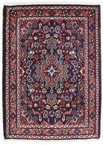 ハマダン シャフバフ 絨毯 72X100 オリエンタル 手織り 濃い紫/深紅色の (ウール, ペルシャ/イラン)