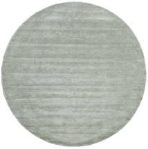 ハンドルーム - Soft Teal 絨毯 Ø 250 モダン ラウンド ライトグリーン/ターコイズブルー 大きな (ウール, インド)