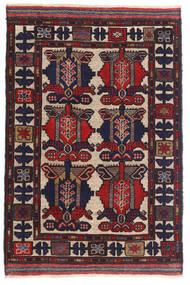 キリム ゴルバリヤスタ 絨毯 80X130 オリエンタル 手織り 黒/深紅色の (ウール, アフガニスタン)