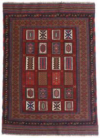 キリム ゴルバリヤスタ 絨毯 115X140 オリエンタル 手織り 深紅色の/濃いグレー (ウール, アフガニスタン)