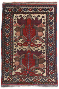 キリム ゴルバリヤスタ 絨毯 90X140 オリエンタル 手織り 紺色の/濃い茶色 (ウール, アフガニスタン)