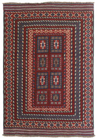 キリム ゴルバリヤスタ 絨毯 90X130 オリエンタル 手織り 深紅色の/濃い茶色 (ウール, アフガニスタン)