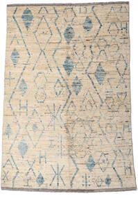 Moroccan Berber - Afghanistan 絨毯 160X234 モダン 手織り 薄い灰色/ベージュ (ウール, アフガニスタン)