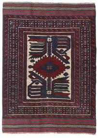 キリム ゴルバリヤスタ 絨毯 95X130 オリエンタル 手織り 黒/深紅色の (ウール, アフガニスタン)