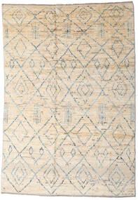 Moroccan Berber - Afghanistan 絨毯 163X237 モダン 手織り ベージュ/薄い灰色 (ウール, アフガニスタン)