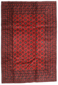 アフガン 絨毯 202X289 オリエンタル 手織り 深紅色の/錆色 (ウール, アフガニスタン)