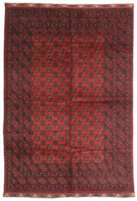 アフガン 絨毯 197X284 オリエンタル 手織り 深紅色の/濃い茶色 (ウール, アフガニスタン)