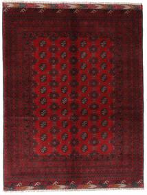 アフガン 絨毯 154X195 オリエンタル 手織り 深紅色の/赤 (ウール, アフガニスタン)