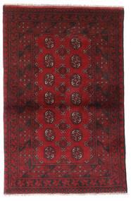 アフガン 絨毯 95X147 オリエンタル 手織り 深紅色の/濃い茶色 (ウール, アフガニスタン)