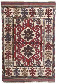 キリム ゴルバリヤスタ 絨毯 100X145 オリエンタル 手織り 濃いグレー/深紅色の (ウール, アフガニスタン)