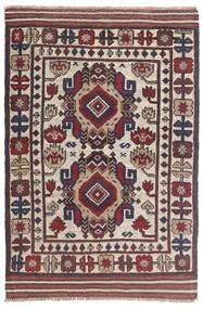 キリム ゴルバリヤスタ 絨毯 92X145 オリエンタル 手織り 濃いグレー/薄い灰色 (ウール, アフガニスタン)