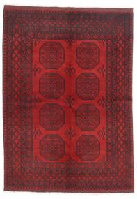 アフガン 絨毯 172X236 オリエンタル 手織り 深紅色の/濃い茶色/赤 (ウール, アフガニスタン)
