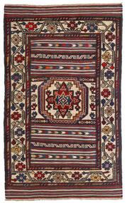 キリム ゴルバリヤスタ 絨毯 90X150 オリエンタル 手織り 深紅色の/黒 (ウール, アフガニスタン)