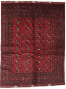 アフガン 絨毯 150X192 オリエンタル 手織り 深紅色の/濃い茶色 (ウール, アフガニスタン)