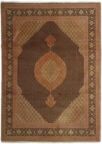タブリーズ 50 Raj 絨毯 254X358 オリエンタル 手織り 茶/濃い茶色 大きな (ウール/絹, ペルシャ/イラン)