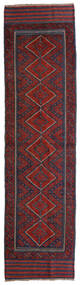 キリム ゴルバリヤスタ 絨毯 60X234 オリエンタル 手織り 廊下 カーペット 深紅色の/黒 (ウール, アフガニスタン)