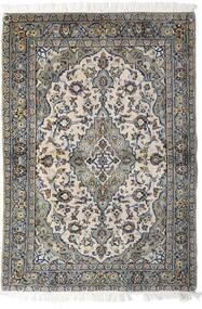 カシャン 絨毯 98X140 オリエンタル 手織り 薄い灰色/濃いグレー (ウール, ペルシャ/イラン)