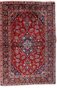 カシャン 絨毯 100X147 オリエンタル 手織り 深紅色の/濃い紫 (ウール, ペルシャ/イラン)