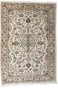 カシャン 絨毯 103X144 オリエンタル 手織り 薄い灰色/ベージュ (ウール, ペルシャ/イラン)