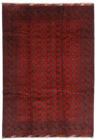 アフガン 絨毯 202X283 オリエンタル 手織り 深紅色の/濃い茶色 (ウール, アフガニスタン)