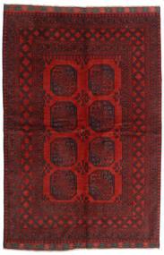 アフガン 絨毯 162X239 オリエンタル 手織り 深紅色の/濃い茶色 (ウール, アフガニスタン)