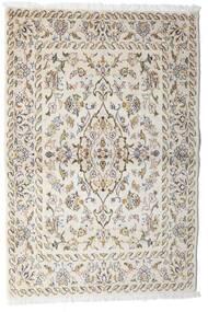 カシャン 絨毯 100X148 オリエンタル 手織り 薄い灰色/ベージュ (ウール, ペルシャ/イラン)