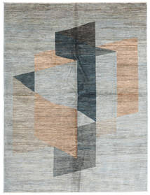 Battuta 絨毯 220X300 モダン 手織り 薄い灰色/ライトグリーン (ウール, アフガニスタン)