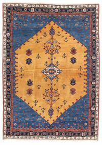 ギャッベ キャシュクリ 絨毯 124X174 モダン 手織り 薄茶色/紺色の (ウール, ペルシャ/イラン)