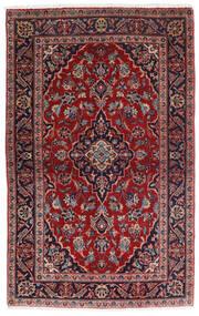カシャン 絨毯 98X158 オリエンタル 手織り 深紅色の/紺色の (ウール, ペルシャ/イラン)