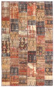 パッチワーク - Persien/Iran 絨毯 191X312 モダン 手織り 深紅色の/茶 (ウール, ペルシャ/イラン)