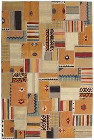 Tekkeh キリム 絨毯 200X302 モダン 手織り 薄茶色/茶/暗めのベージュ色の (ウール, ペルシャ/イラン)