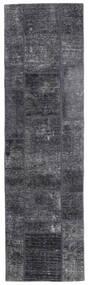 パッチワーク - Persien/Iran 絨毯 71X251 モダン 手織り 廊下 カーペット 濃いグレー/薄紫色 (ウール, ペルシャ/イラン)
