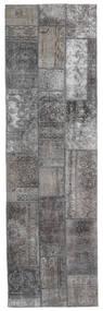 パッチワーク - Persien/Iran 絨毯 76X253 モダン 手織り 廊下 カーペット 薄い灰色/濃いグレー (ウール, ペルシャ/イラン)