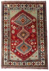 カシュガイ 絨毯 136X197 オリエンタル 手織り 深紅色の/濃いグレー (ウール, ペルシャ/イラン)