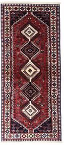 ヤラメー 絨毯 83X190 オリエンタル 手織り 廊下 カーペット 深紅色の (ウール, ペルシャ/イラン)