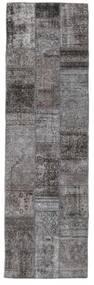 パッチワーク - Persien/Iran 絨毯 76X252 モダン 手織り 廊下 カーペット 濃いグレー/濃い茶色 (ウール, ペルシャ/イラン)