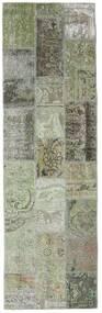 パッチワーク - Persien/Iran 絨毯 76X253 モダン 手織り 廊下 カーペット 濃いグレー/薄い灰色 (ウール, ペルシャ/イラン)