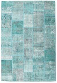 パッチワーク - Persien/Iran 絨毯 203X300 モダン 手織り 水色/ターコイズブルー (ウール, ペルシャ/イラン)
