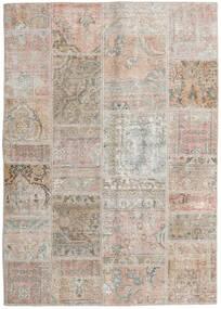 パッチワーク - Persien/Iran 絨毯 141X200 モダン 手織り 薄い灰色/薄茶色 (ウール, ペルシャ/イラン)