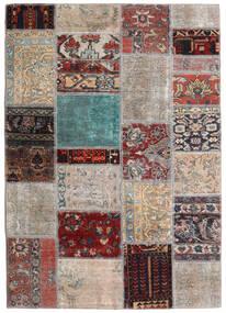 パッチワーク - Persien/Iran 絨毯 141X198 モダン 手織り 薄い灰色/濃い茶色 (ウール, ペルシャ/イラン)